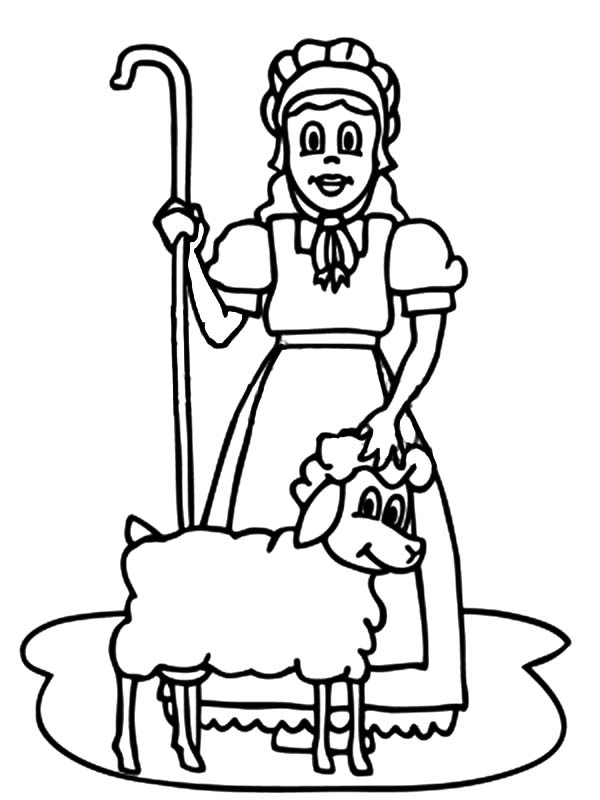 Mary Had a Little Lamb, : Mary Had a Little Lamb Gnome Coloring Pages