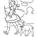 Mary Had a Little Lamb, Mary Had A Little Lamb Who Following Her Wherever She Goes Coloring Pages: Mary Had a Little Lamb Who Following Her Wherever She Goes Coloring Pages