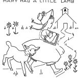Mary Had a Little Lamb, Mary Had A Little Lamb And She Running Away Form Her Coloring Pages: Mary Had a Little Lamb and She Running Away form Her Coloring Pages