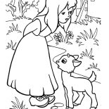 Mary Had a Little Lamb, Mary Had A Little Lamb To Play With Her Coloring Pages: Mary Had a Little Lamb to Play with Her Coloring Pages