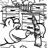 Masha And The Bear, Masha And The Bear Talking To Masha Coloring Pages: Masha and the Bear Talking to Masha Coloring Pages