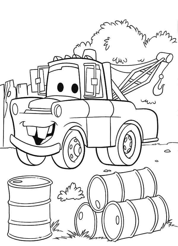 Mater, : Mater Found Empty Drums Coloring Pages