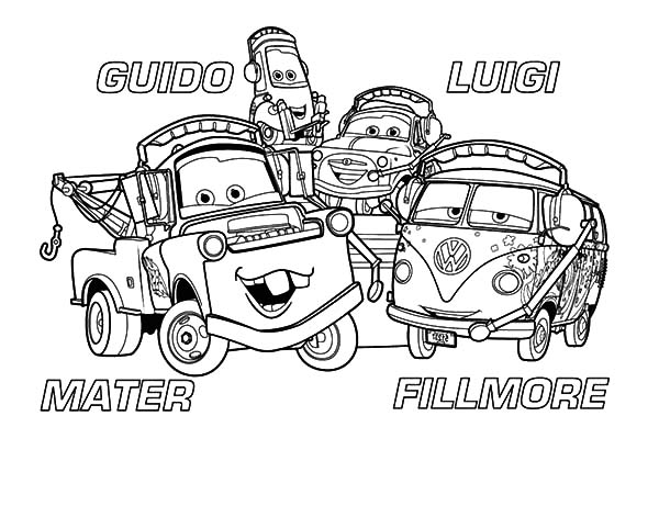 Mater, : Mater and Friends Coloring Pages