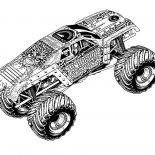 Monster Jam, MaxD Truck Monster Jam Coloring Pages: MaxD Truck Monster Jam Coloring Pages