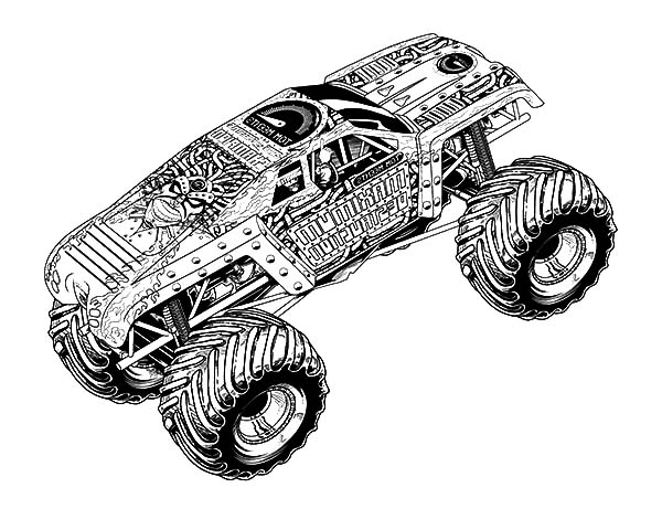 Monster Jam, : MaxD Truck Monster Jam Coloring Pages