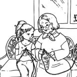 Grandmother, Me Knitting With Grandmother Coloring Pages: Me Knitting with Grandmother Coloring Pages
