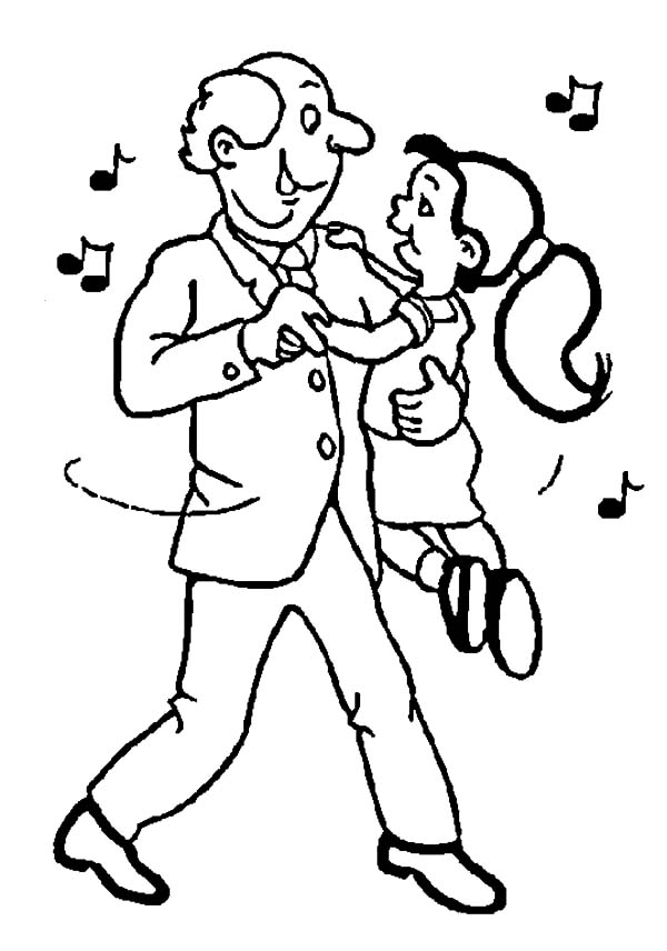 Grandfather, : Me and My Grandfather Dance Coloring Pages