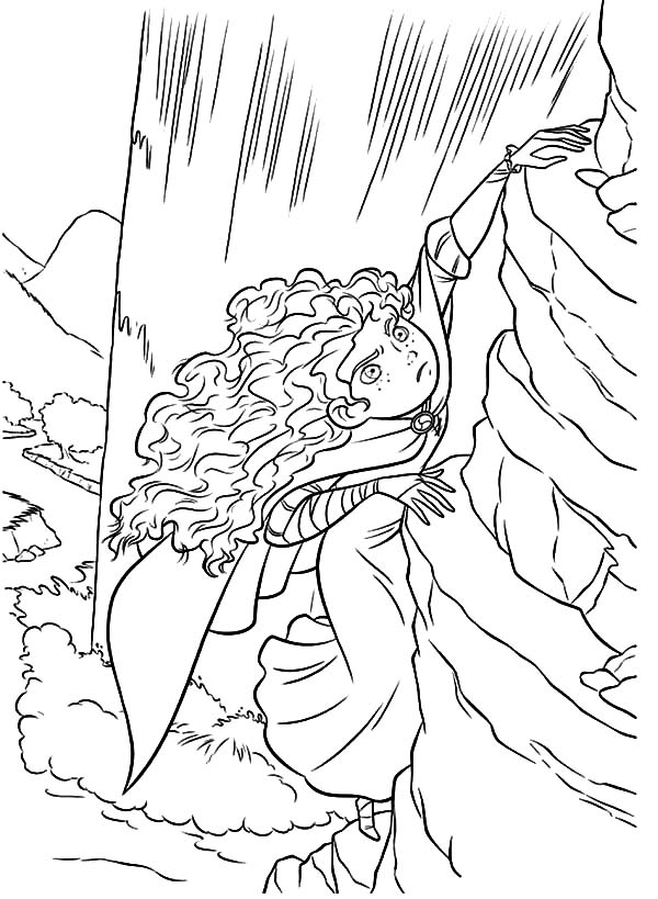 Merida, : Merida Climb Vertical Cliff Coloring Pages