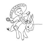 Mexican Donkey, Mexican Baby Ride Mexican Donkey Coloring Pages: Mexican Baby Ride Mexican Donkey Coloring Pages