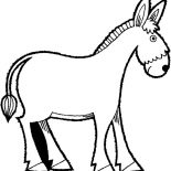 Mexican Donkey, Mexican Donkey Coloring Pages For Kids: Mexican Donkey Coloring Pages for Kids