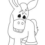 Mexican Donkey, Mexican Donkey Frown Face Coloring Pages: Mexican Donkey Frown Face Coloring Pages