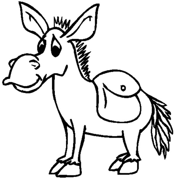 Mexican Donkey, : Mexican Donkey Look Sad Coloring Pages