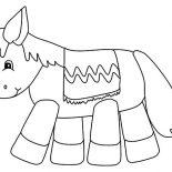 Mexican Donkey, Mexican Donkey Pinata Coloring Pages: Mexican Donkey Pinata Coloring Pages
