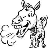 Mexican Donkey, Mexican Donkey Stink Breath Coloring Pages: Mexican Donkey Stink Breath Coloring Pages