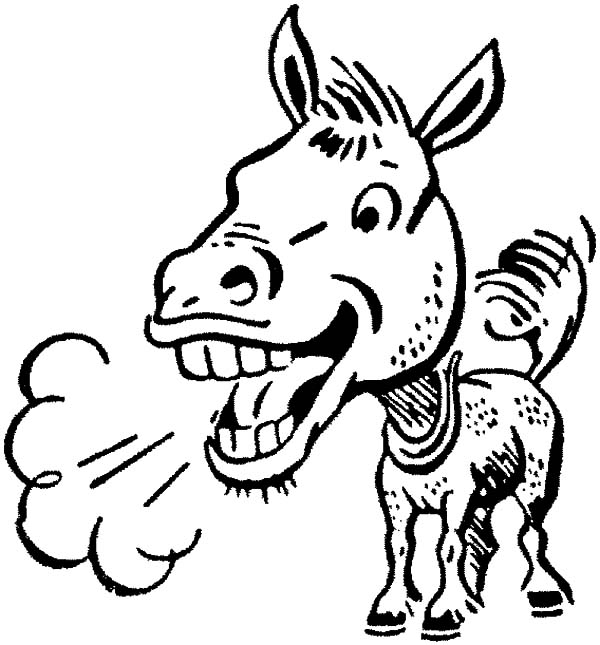 Mexican Donkey, : Mexican Donkey Stink Breath Coloring Pages