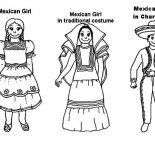 Mexican Dress, Mexican Dress Coloring Pages: Mexican Dress Coloring Pages