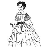 Mexican Dress, Mexican Dress Coloring Pages For Kids: Mexican Dress Coloring Pages for Kids