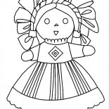 Mexican Dress, Mexican Dress Doll Coloring Pages: Mexican Dress Doll Coloring Pages