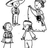Mexican Dress, Mexican Dress Parade Coloring Pages: Mexican Dress Parade Coloring Pages
