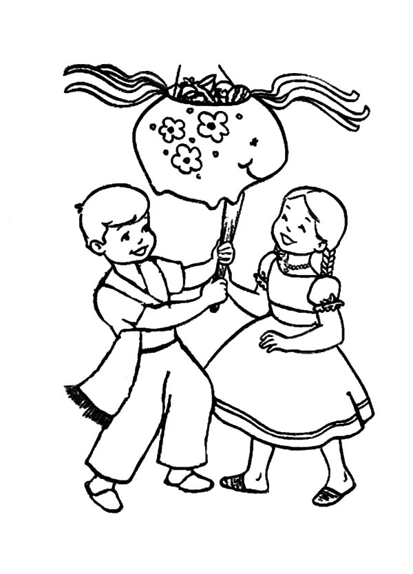 Mexican Dress, : Mexican Dress in Cinco de Mayo Coloring Pages