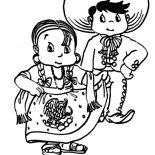 Mexican Dress, Mexican Native In Mexican Dress Coloring Pages: Mexican Native in Mexican Dress Coloring Pages