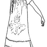 Mexican Dress, Mexican Night Dress Coloring Pages: Mexican Night Dress Coloring Pages