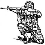 Military, Military Aiming With Sniper Rifle Coloring Pages: Military Aiming with Sniper Rifle Coloring Pages