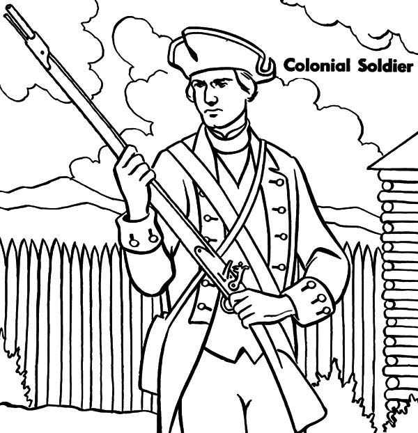 Military, Military Colonial Soldier Coloring Pages: Military Colonial Soldier Coloring Pages