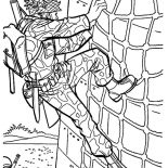 Military, Military Drill Wall Climbing Coloring Pages: Military Drill Wall Climbing Coloring Pages