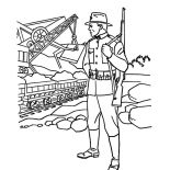 Military, Military Force Stand Guard Coloring Pages: Military Force Stand Guard Coloring Pages