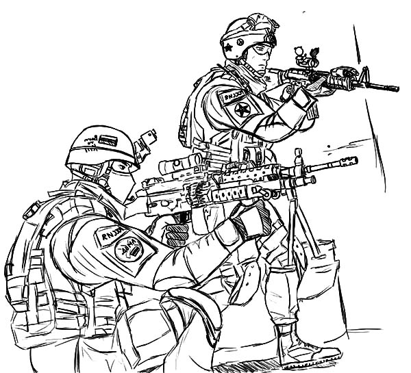 Military, : Military Forces Coloring Pages