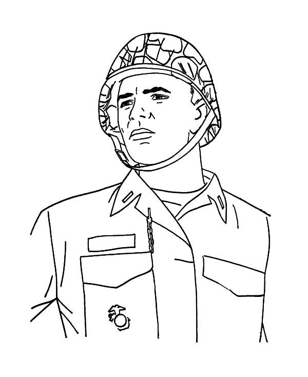 Military, : Military Hero Coloring Pages