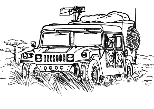 Military, Military Jeep Patrol Coloring Pages: Military Jeep Patrol Coloring Pages