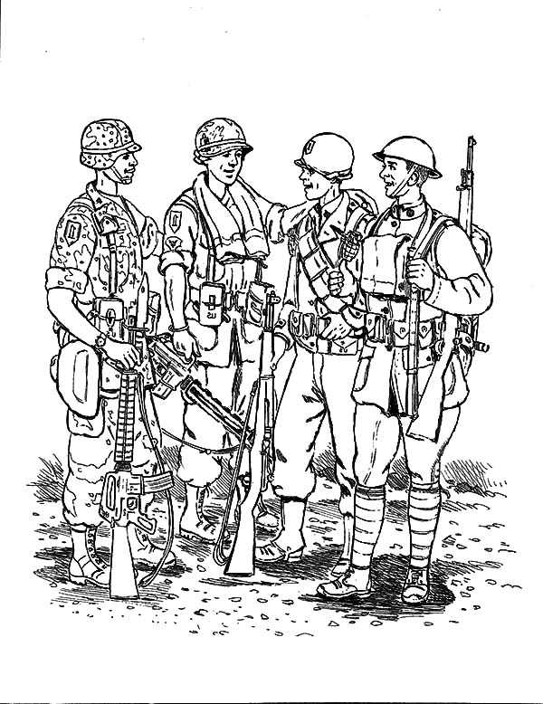 Military, : Military Nation Coloring Pages