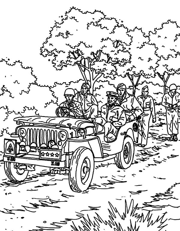Military, : Military Parade Coloring Pages