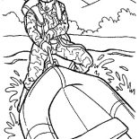 Military, Military Rubber Boat Coloring Pages: Military Rubber Boat Coloring Pages