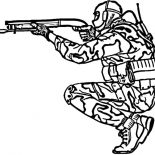 Military, Military Shotgun Coloring Pages: Military Shotgun Coloring Pages