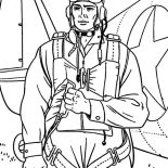 Military, Military Soldier Bring Parachute Coloring Pages: Military Soldier Bring Parachute Coloring Pages