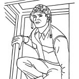 Military, Military Soldier Sneaking Coloring Pages: Military Soldier Sneaking Coloring Pages