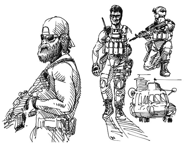 Military, : Military Special Forces Coloring Pages