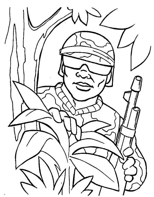 Military, : Military Spy Coloring Pages