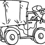 Military, Military Truck Cartoon Coloring Pages: Military Truck Cartoon Coloring Pages