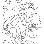 Milking Cow, Milking Cow Cartoon Coloring Pages: Milking Cow Cartoon Coloring Pages