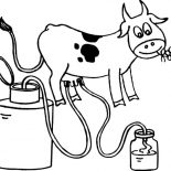 Milking Cow, Milking Cow Coloring Pages: Milking Cow Coloring Pages