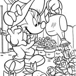 Garden, Minnie Mouse Working In The Garden Coloring Pages: Minnie Mouse Working in the Garden Coloring Pages