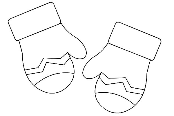 Mittens, : Mittens Gloves Coloring Pages