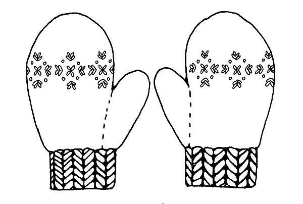 Mittens, : Mittens Keep Your Hand Warm Coloring Pages