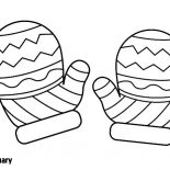 Mittens, Mittens Winter Season Coloring Pages: Mittens Winter Season Coloring Pages