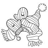 Mittens, Mittens And Winter Atributes Coloring Pages: Mittens and Winter Atributes Coloring Pages