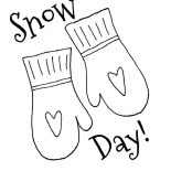 Mittens, Mittens For Snow Day Coloring Pages: Mittens for Snow Day Coloring Pages